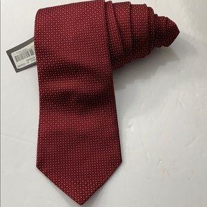 Murano tie extra long maroon gray